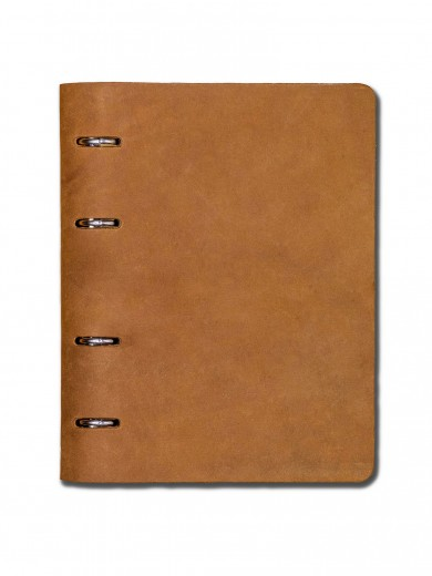"""Leather notebook """"The Notebook"""" by URBAN BAG - Golden Brown"""